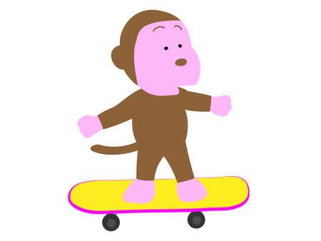 Skateboard monkey Illustration