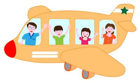 El transporte aéreo con la familia