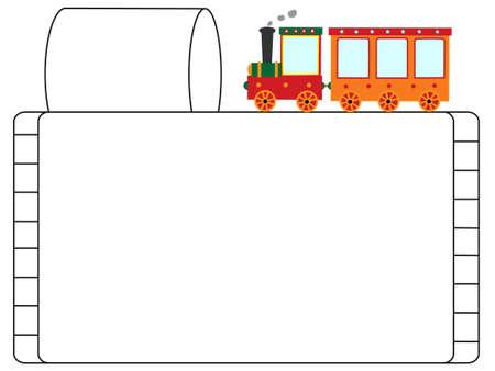 Vehicle title frame Ilustração