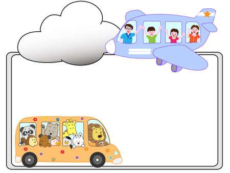 Vehicle title frame Illustration
