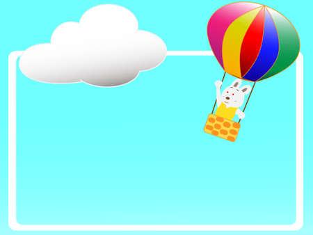 Hot air balloon title frame