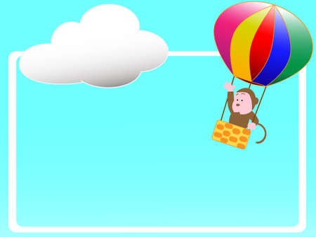 Hot air balloon title frame