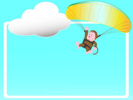 Paragliding title frame