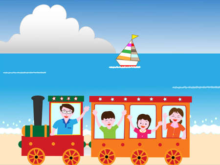 cruising: Families coast to travel by train.