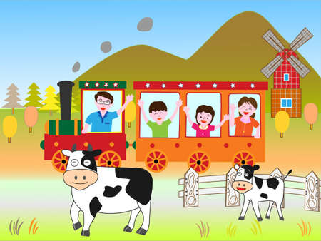 holstein: Train travel with family