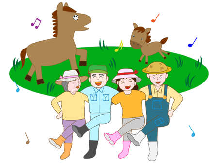 Fun Ranch work. Illustration