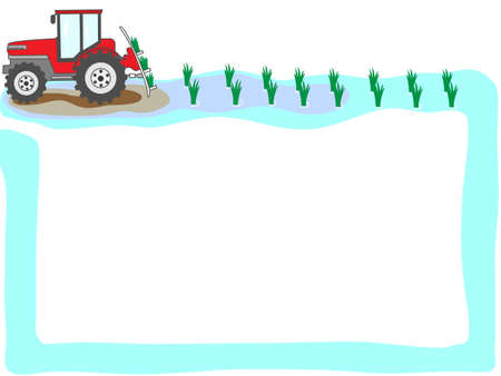 plow: Agriculture in the title frame Illustration