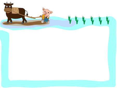 Agriculture in the title frame Illustration