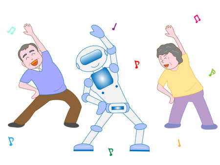 Exercise for the elderly Illustration