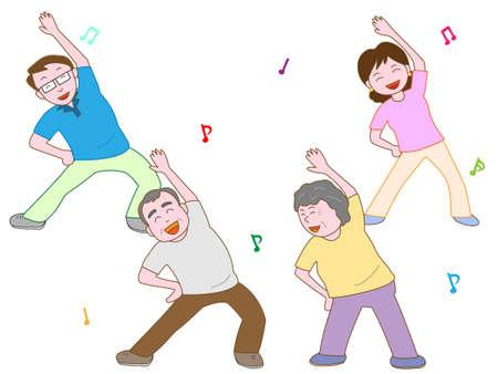 longevity: Exercise for the elderly Illustration