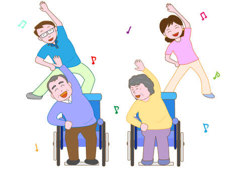 Exercise for the elderly Ilustrace