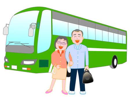 hot couple: Travel Illustration