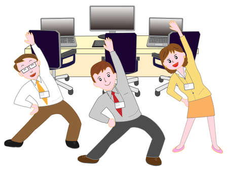 Corporate exercise Illustration