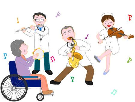 病院でのコンサート