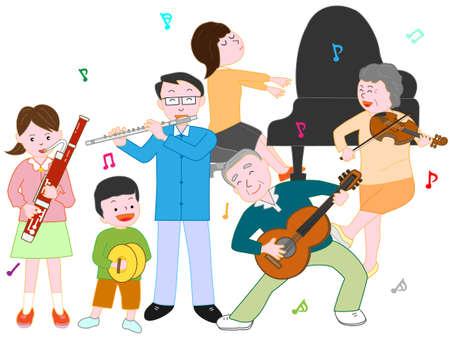 clarinete: En un concierto familiar.