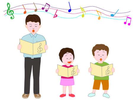 chorus: Childrens Chorus Illustration
