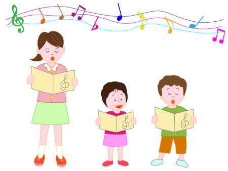 Childrens Chorus, vector illustration.