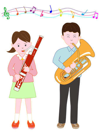 Brother and sister concert Illustration
