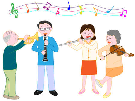楽しいコンサート  イラスト・ベクター素材