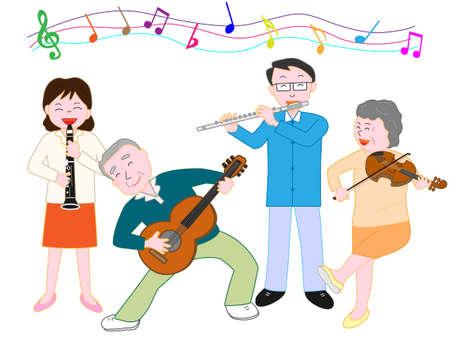 clarinete: Concierto divertido Vectores