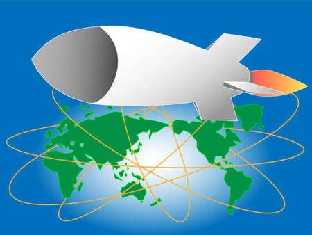 Missile launcher illustration.