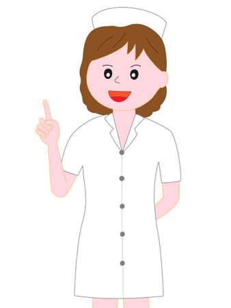 Nurse posing