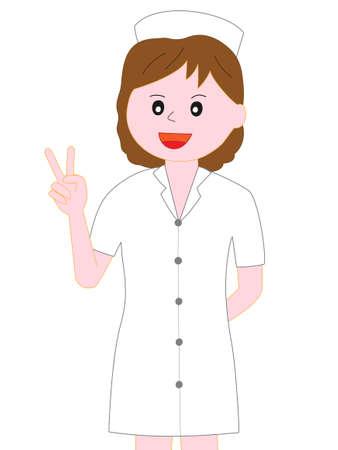 Enfermera posando