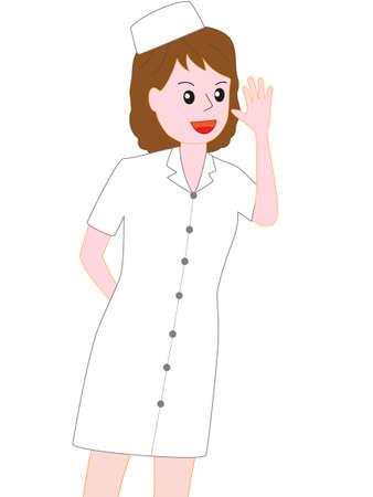 chorus: Nurse posing