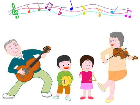 acordeon: Disfruta de la música en la familia Vectores
