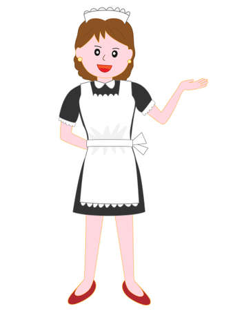 Restaurant maid posing
