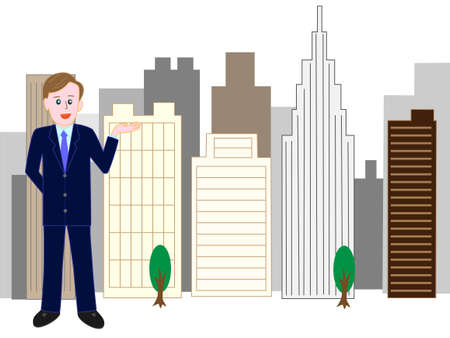 Guide to corporate  イラスト・ベクター素材