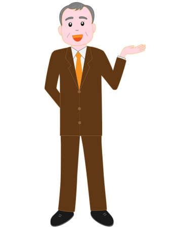 Emotion of a senior businessman.