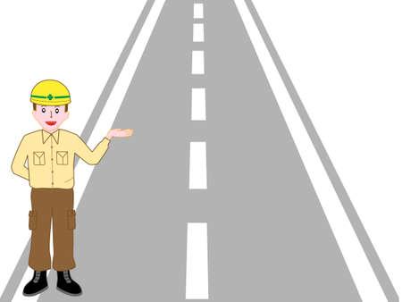Description of road construction workers