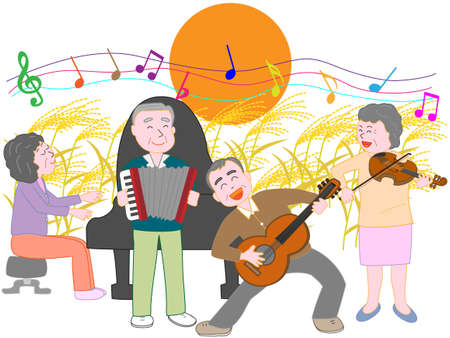 For the elderly of the autumn full moon concert
