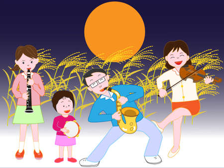 Night of the full moon of autumn with family concerts