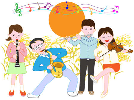 clarinete: Night of the full moon of autumn with family concerts