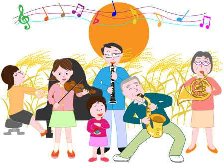 Family of the autumn full moon concert
