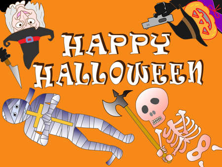 Horror Halloween Illustration