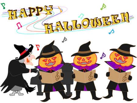 Halloween concert vector illustration. Illustration