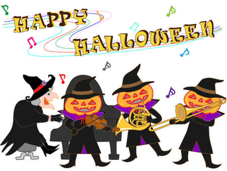 Halloween concert vector illustration. Vettoriali