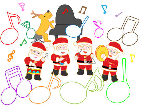 Illustration of a fun christmas concert