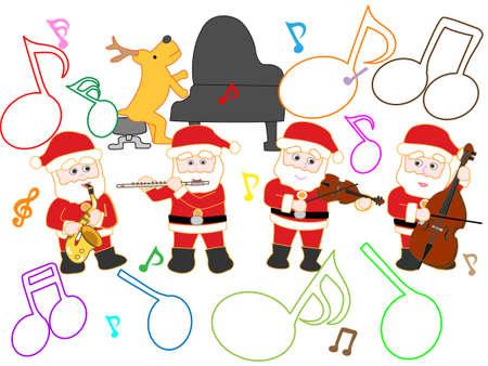 楽しいイラスト クリスマス コンサート