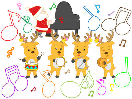 Fun Christmas concert Illustration