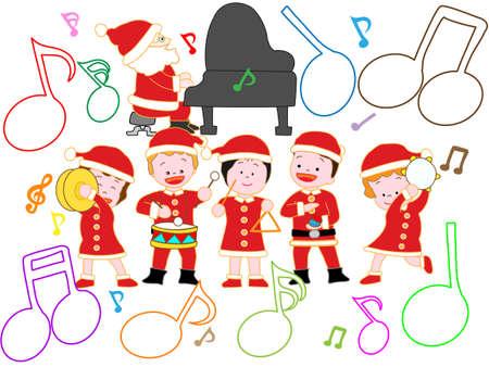 Le concert de Noël des enfants Banque d'images - 86136906