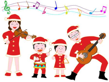 家族でのクリスマス コンサート。 写真素材 - 86485047