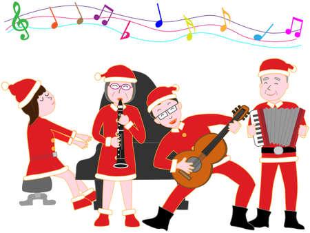 Family Christmas carol concert.