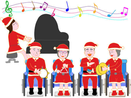 Wheelchairs for the elderly for Christmas concert