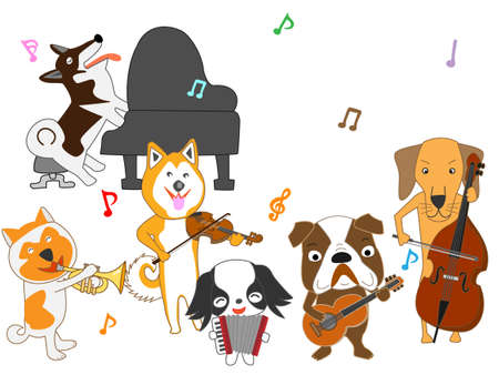 犬はコンサート ベクトル図です。