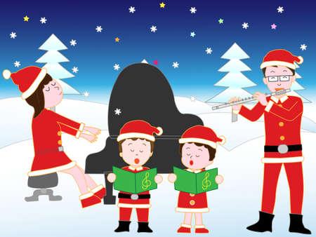chorus: Christmas concert at the family.