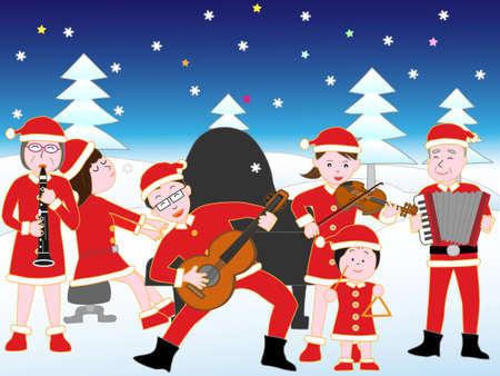 クリスマス コンサートで家族。 写真素材 - 87603809